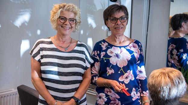 Lene og Inge har arbejdet sammen i 25 år - nu stopper Lene og går på efterløn.Foto: Kim Dahl Hansen