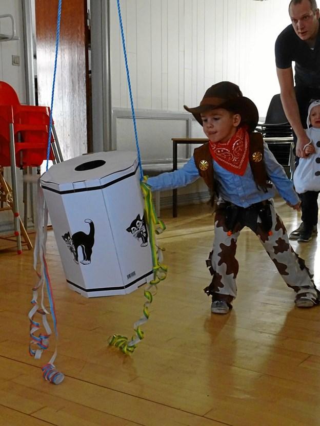 Denne cowboy lagde også kræfterne i. Privatfoto