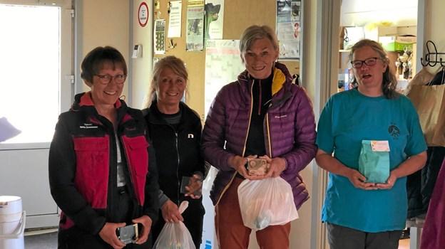 Endelig er det Rally Åben med fra venstre: Rikke Svensson fra Brønderslev, Anette Ranzau fra Dronninglund, Elsebeth Norlen fra Hobro og Laila Andersen fra Hjørring. Foto: Ole Torp Ole Torp