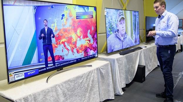 Jubilæumsmessen i weekenden viser også megastore tv-skærme.