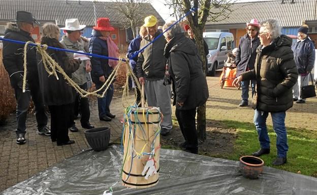 Mange havde klædt sig ud til arrangementet, hvor fastelavn blev fejret i højt humør. Privatfoto