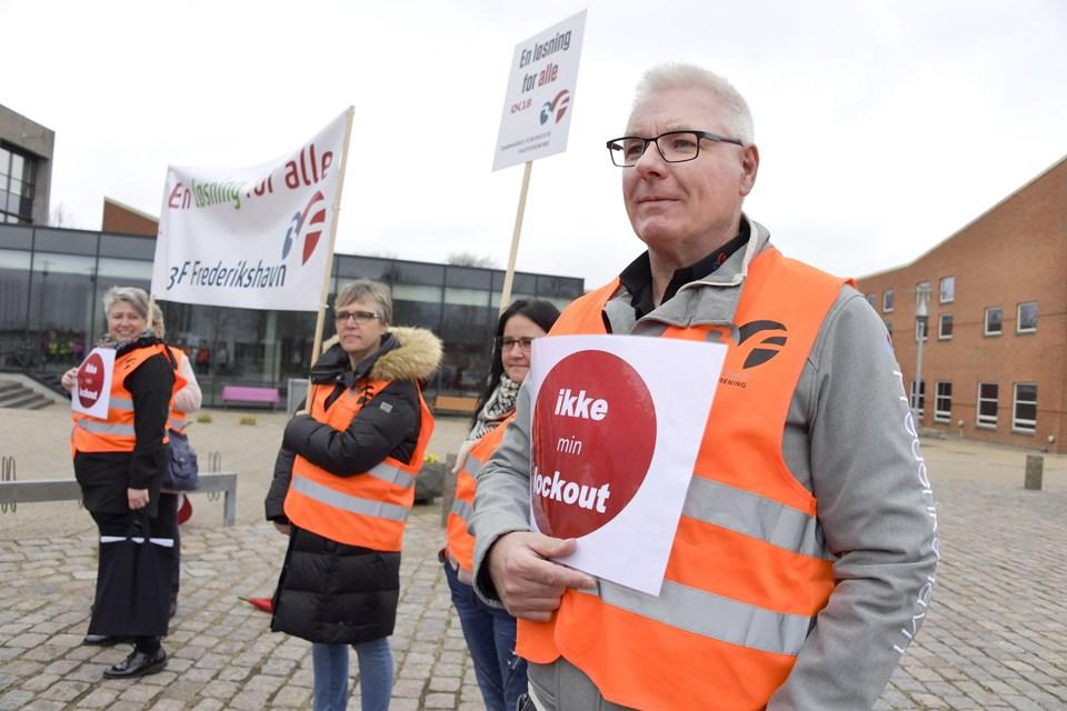 - Vi har brug for en fælles løsning, siger Finn Jenne, 3F Frederikshavn.  Foto: Bente Poder