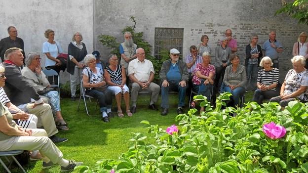 Masser af gæster i museets have Grundlovsdag. Foto: Kirsten Olsen Kirsten Olsen