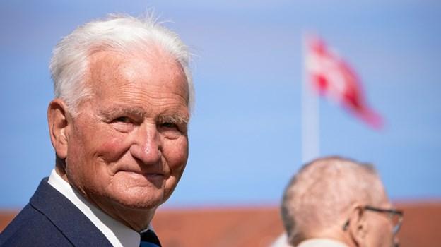 I efteråret 1949 tog Henning Jensen fra Pandrup til København for at blive garder. De 70 år blev søndag markeret ved den årlige parade ved Rosenborg Slot. Foto: Kasper Ørkild