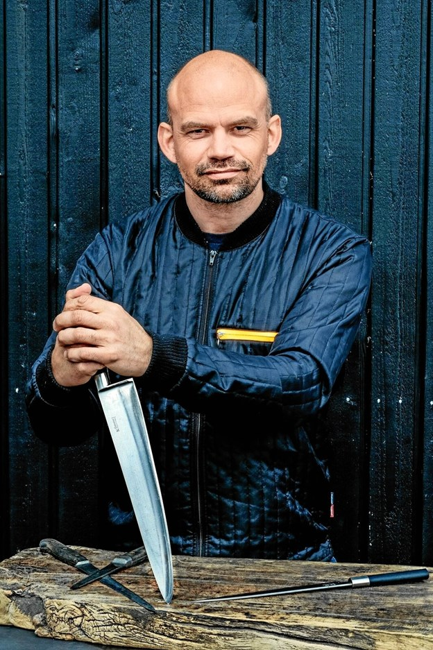 Jesper Vollmer besøger Pandrup. Pressefoto