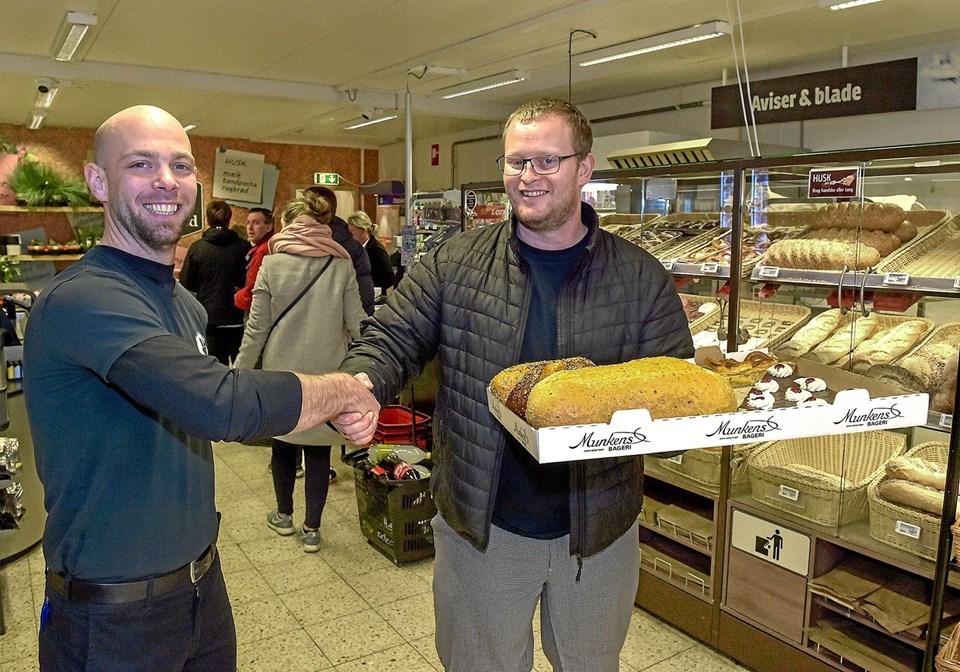 Så er der bagerbrød i Spar på Iversensvej. Foto: Ole Iversen
