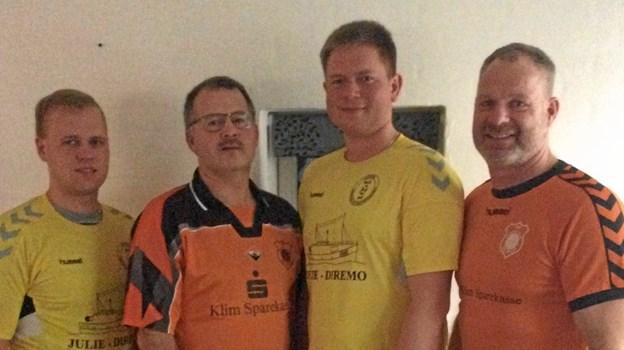 Hjortdal og Thorup/Klim har slået pjalterne sammen om fælles fodboldhold. Privatfoto