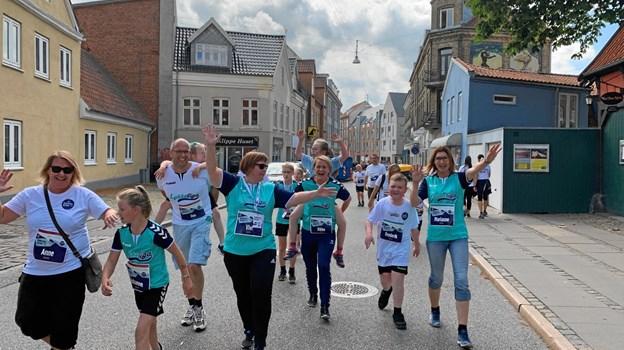Lykkeliga var godt repræsenteret til Royal Run i Aalborg. Privatfoto