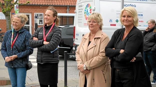 Der blev lyttet til talerne. Foto: Flemming Dahl Jensen Flemming Dahl Jensen