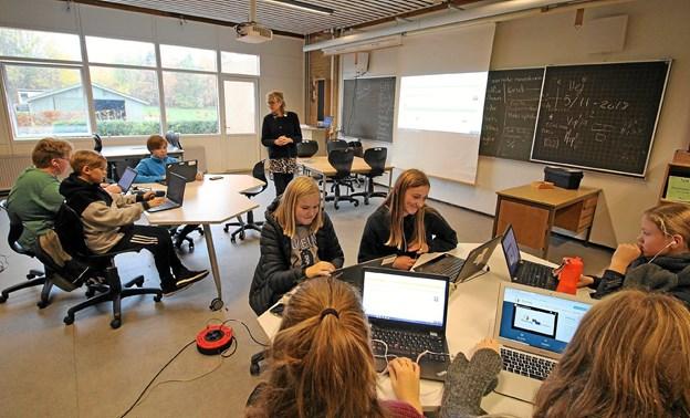 Eleverne er i tæt kontakt med elever fra skoler i Grækenland, Polen og Slovakiet. Foto: Jørgen Ingvardsen Jørgen Ingvardsen