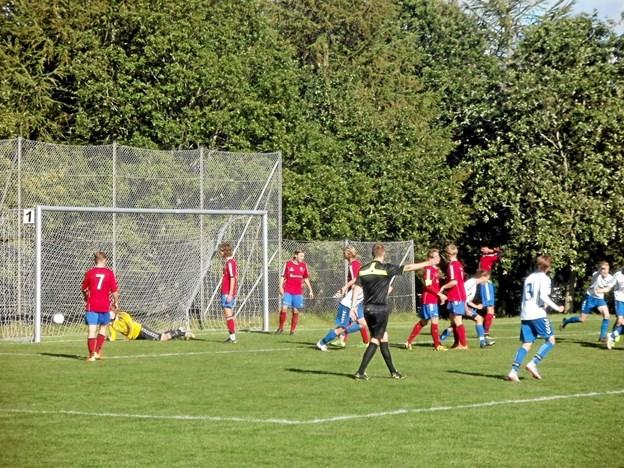 Det lykkedes for LKB-Gistrup at få en god start i serie 2 i fodbold. Foto: Kjeld Mølbæk