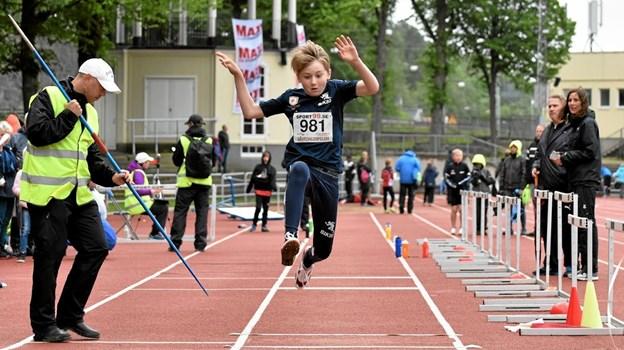 Nichlas Trangeled springer længdespring i Gøteborg. Bliver han den nye Kasper Larsen? Foto: Gunnar Møller Nielsen Gunnar Møller Nielsen