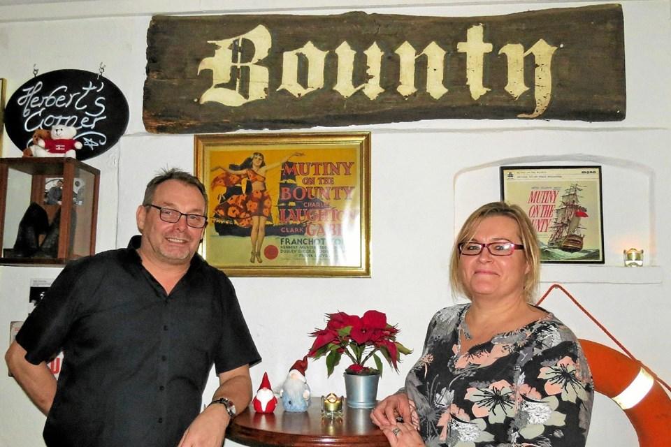 Hyggelig maritim indretning på Bodega Bounty. Foto: Kirsten Olsen Kirsten Olsen