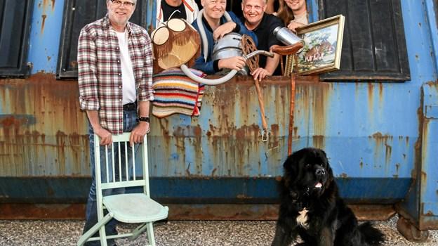 Ib Grønbech og Containerkvartetten optræder i Kulturhuset.Pressefoto