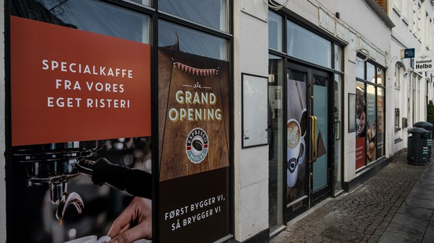 Der er midlertidig lukket ned i kaffebaren på Nytorv. Foto: Lasse Sand
