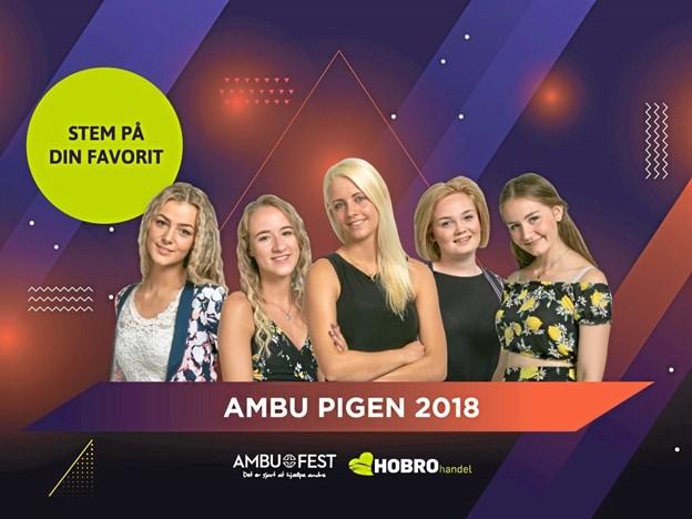 Det er disse fem nominerede kandidater til Ambu Pigen 2018, du kan stemme om.   Privatfoto
