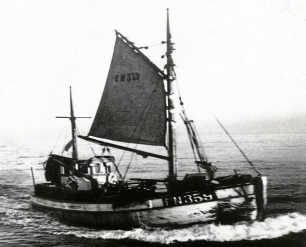 En kutter på havet. Foto: Nordjyllands Kystmuseum