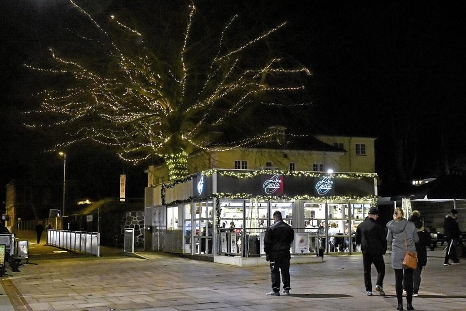 Museumsbøgen iklædt lys i år. Foto: Ole Iversen Ole Iversen