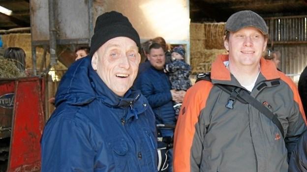 Mogens Thomsen og René Severinsen til øko-dag, hvor køerne lukkes på græs.