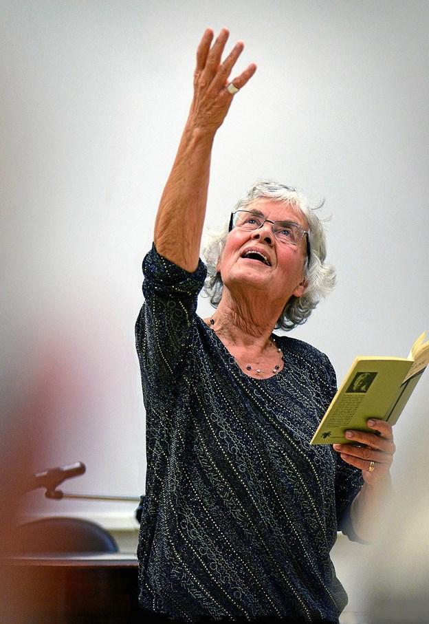 Lise Rosendahl - læser 16. marts op i Himmerlands Teaters foyer. Arkivfoto