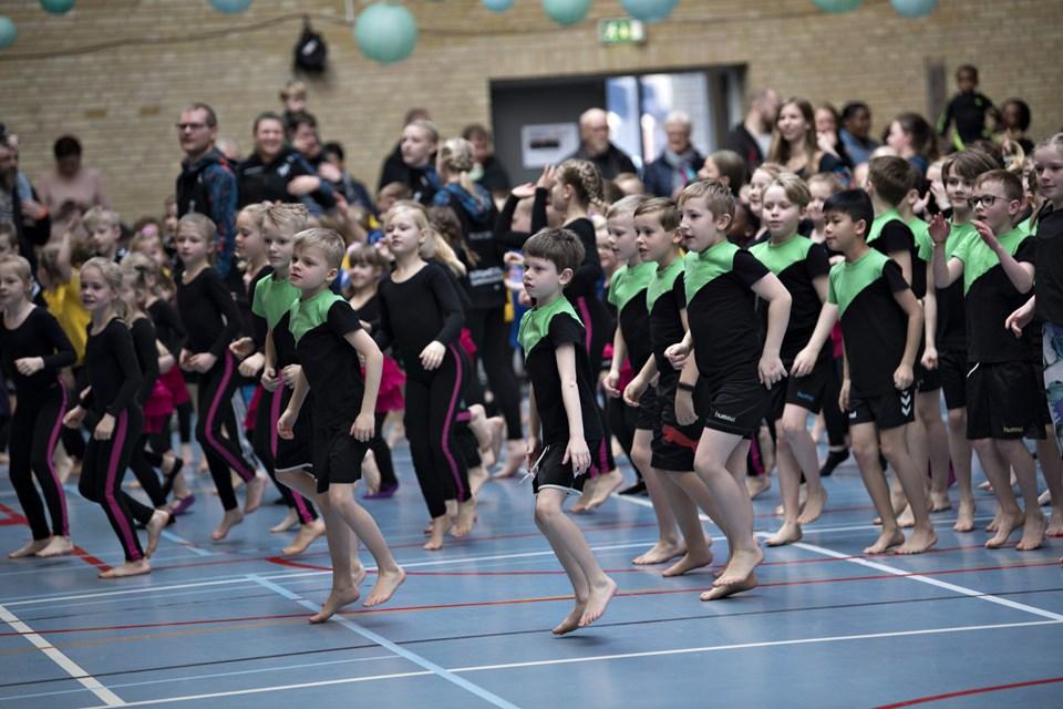 Det er snart tid til den årlige gymnastikopvisning i BGF.Arkivfoto: Kurt Bering