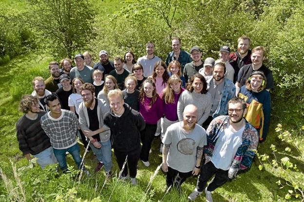 Mange af deltagerne mødte hinanden for første gang. De fleste bor i studie byer udenfor Thy. Foto: Ole Iversen Ole Iversen