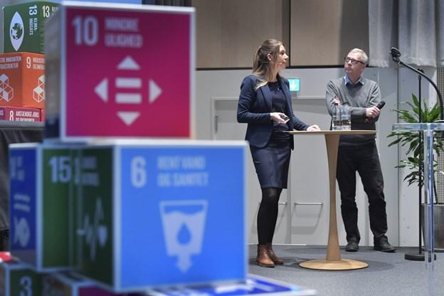 Ditte Gerstrøm og Peter Ydesen fra Hirtshals Havn - et nordjysk eksempel på en grøn virksomhed.