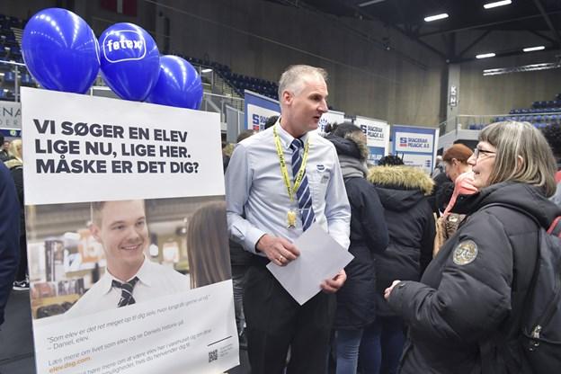Claus Bøje fra føtex var også på plads for at skaffe medarbejdere til sin virksomhed-