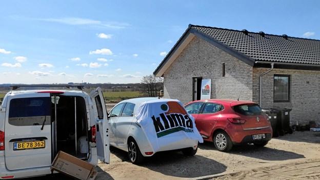 """Klima Rebild havde arrangeret åbent hus med emnet """"Det bæredygtige parcelhus"""" i et helt nybygget hus på Rådyret i Støvring. Privatfoto"""