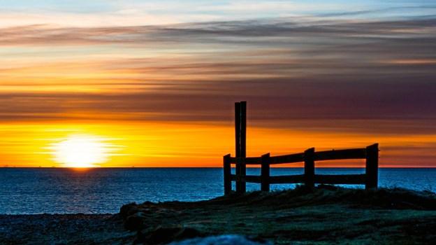Solnedgang ved Lønstrup. 20. marts 2018. Foto: Randi Møgelmose