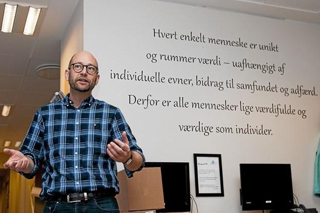 Bogens anden forfatter folketingsmedlem Rasmus Prehn. Foto: Lasse Sand