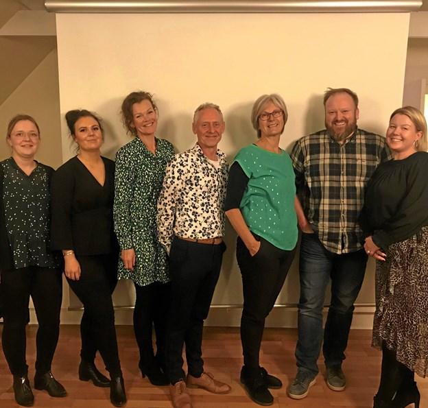Den nyvalgte bestyrelse for Støvring Handel & Erhverv. Fra venstre mod højre ses Christina Juul Sandvei, Nanna Egsdal Pedersen, Pia Damgaard, Uffe Guldborg, Lisa Kjær, Michael Løgtholt og Inge-Lene Ebdrup. Privatfoto