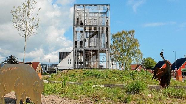 Det nye tårn blev indviet sidste år og fra toppen kan man skimte både havet og Lille Vildmose
