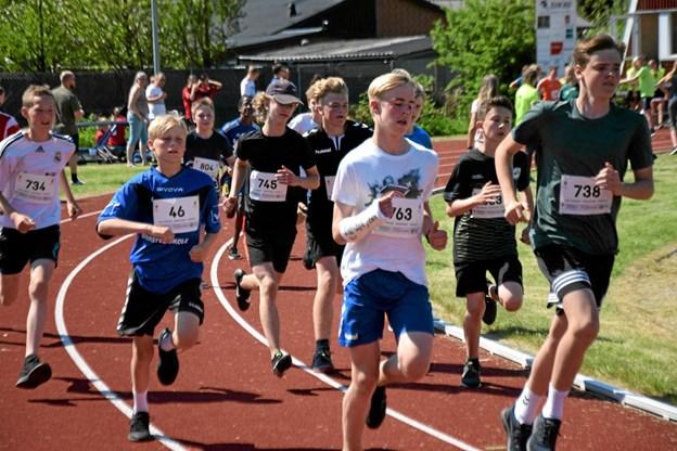 En brækket arm var ingen hindring for et godt løb Foto: Gunnar Møller Nielsen Gunnar Møller Nielsen