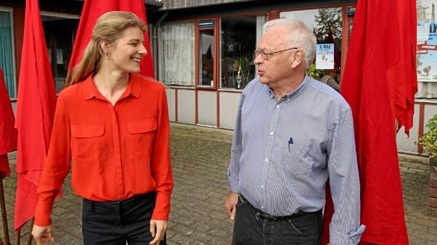 Folketingsmedlem Ane Halsboe-Jørgensen og gruppeformand Arne M. Jensen var blandt talerne på årets første maj-møde. Foto: Jørgen Ingvardsen
