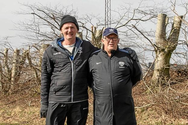 Jørgen Jøsse Larsen og Mogens Thomsen stopper som trænere efter denne sæson. Foto: Tex