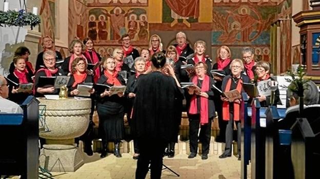 Sindalkoret dirigeret af Kristina Hansson.   Privatfoto