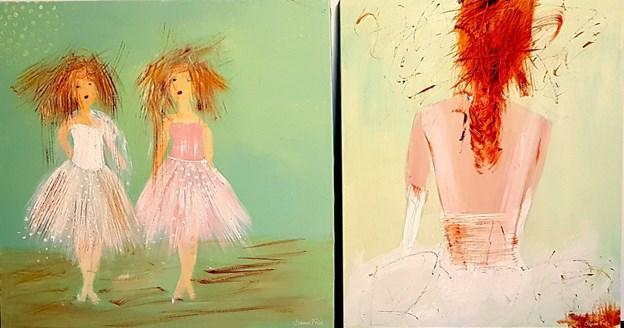 Ved Påskeferniseringen på Galleri Friis på torsdag, vil Sanne Friis nye serie af balletbilleder blive vist frem for første gang. Privatfoto