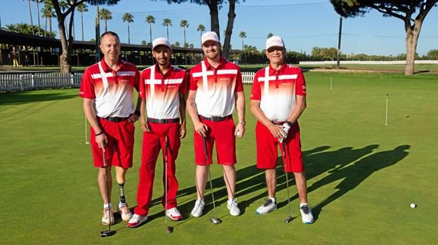 Fredrik Øie (nummer tre var venstre) var eneste nordjyde på det danske hold til Nations Cup i Sydspanien. Privatfoto BALAZS POPAL / BL STUDIOS