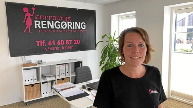 Karen Jensen i de nye lokaler på Pirupvejen 1 i Hune.