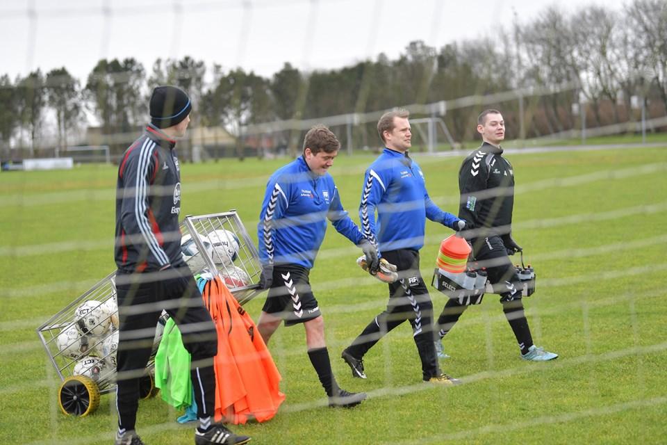 Der er officielt åbnet for sæsonen i FIF Fodbold. Foto: Claus Søndberg