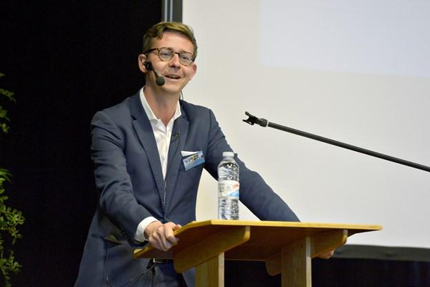 Skatteminister Karsten Lauritzen besøger Frederikshavn Gymnasium mandag for at fortælle om ansvarlighed og skat. Arkivfoto: Bente Poder