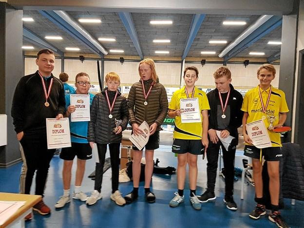 Deltagerne fra Ungdom 2. Vinder, som står længst til venstre, blev Nikolaj Vittrup fra Brønderslev. Privatfoto