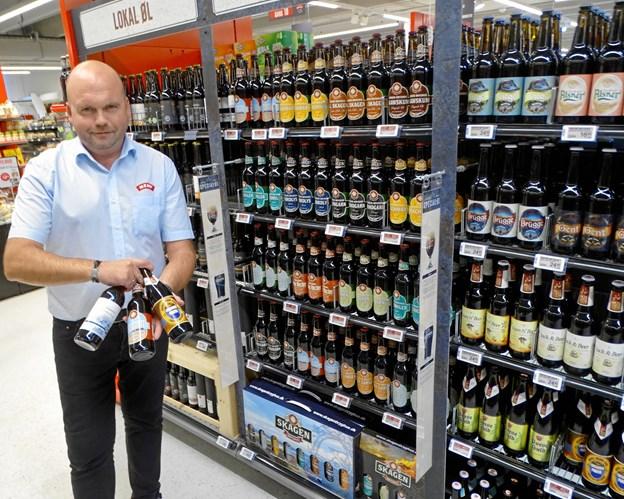 Butikschef Jan Højer, Meny Hjørring, er klar til at snakke øk og skænke smagsprøver 1. november til ølaften. Privatfoto