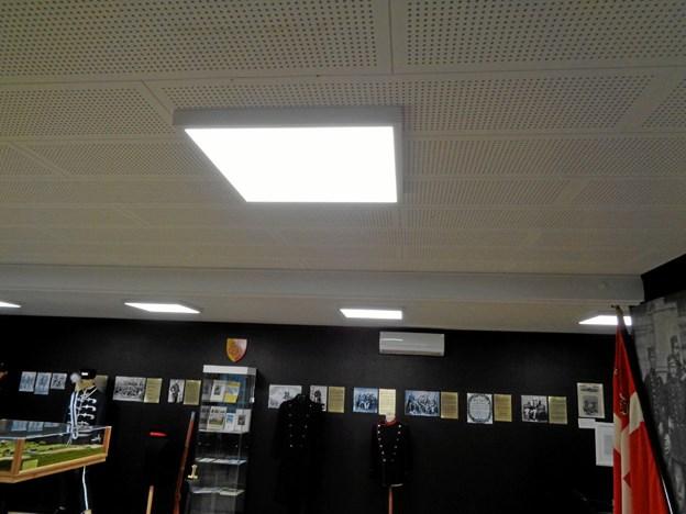I forbindelse med udvidelsen er der også installeret nye energivenlige LED-lamper Foto: Kjeld Mølbæk Kjeld Mølbæk