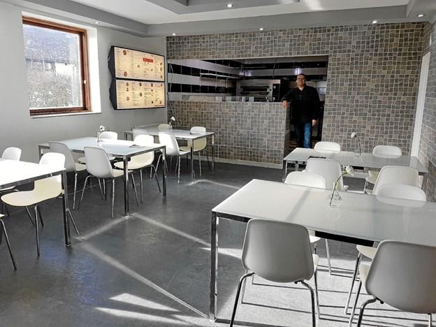 Restauranten er lys og indbydende. Foto: Karl Erik Hansen Karl Erik Hansen