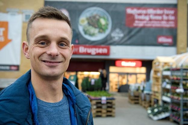 Rasmus Aarhøj bliver fra 15. december uddeler i SuperBrugsen i Thisted. Foto: Bo Lehm