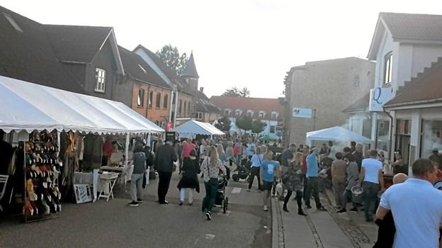 Håbet er godt vejr og masser af mennesker til byfesten. Privatfoto Privat