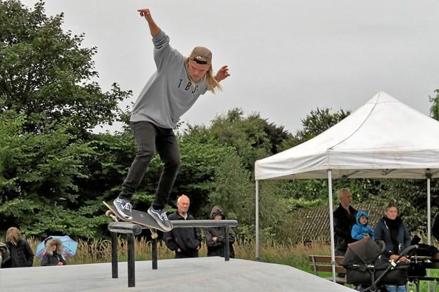 The Boss Shop Skate Team gav opvisning ved åbningen. Foto: Søren Borup Winther