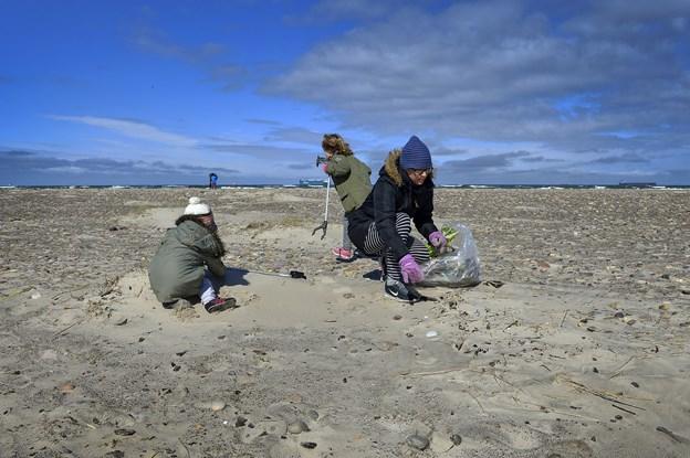 Affaldsindsamlingen, som her på Skagen Nordstrand, er en årligt tilbagevendende begivenhed. Arkivfoto: Jesper Thomasen
